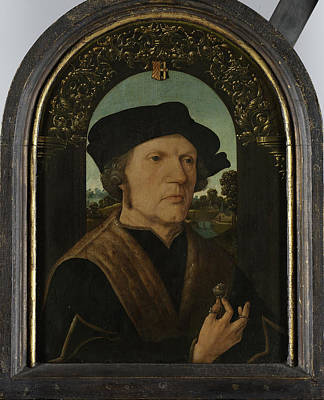 Portrait Of Jan Gerritsz Van Egmond, Died 1523 Poster by Litz Collection