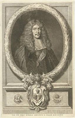 Portrait Of Joachim Von Sandrart, Richard Collin Poster by Richard Collin