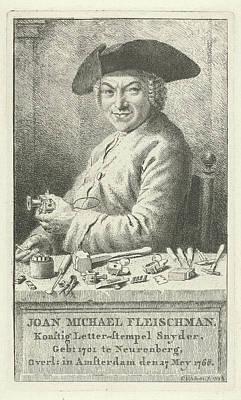 Portrait Of Joan Michael Fleischman, Cornelis Van Noorde Poster by Quint Lox