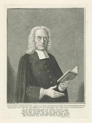 Portrait Of Joannes Deknatel, Cornelis Van Noorde Poster by Cornelis Van Noorde And Arent Pluym