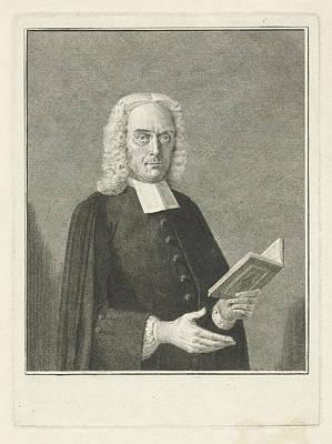 Portrait Of Joannes Deknatel, Cornelis Van Noorde Poster by Cornelis Van Noorde