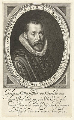 Portrait Of Johannes Wtenbogaert At The Age Of 62 Poster by Willem Jacobsz. Delff