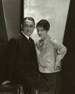 Portrait Of John Emerson And Anita Loos Poster