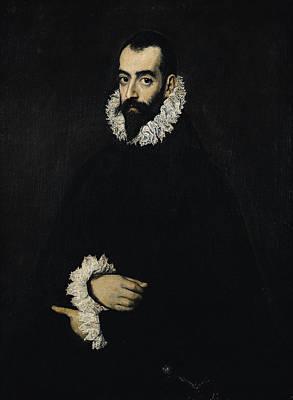 Portrait Of Juan Alfonso De Pimentel Y Herrera, 8th Conde De Benavente D.1621 Poster by El Greco