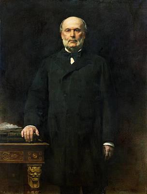 Portrait Of Jules Grevy 1807-91 1880 Oil On Canvas Poster by Leon Joseph Florentin Bonnat