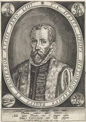 Portrait Of Justus Lipsius, Jan Baptist Zangrius Poster by Jan Baptist Zangrius