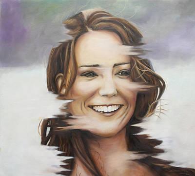 Portrait Of Kate Middleton Poster