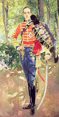 Portrait Of King Alfonso Xiii  Poster by Joaquin Sorolla y Bastida