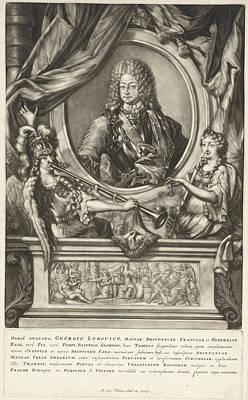 Portrait Of King George I Of Great Britain Poster by Arnoud Van Halen