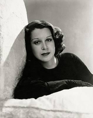 Portrait Of Kitty Carlisle Hart Poster