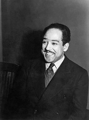 Portrait Of Langston Hughes Poster