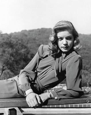 Portrait Of Lauren Bacall Poster by Crane Ralph