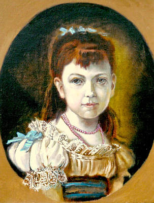 Poster featuring the painting Portrait Of Little Girl by Henryk Gorecki