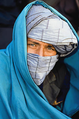 Portrait Of Man Wearing Turban Poster