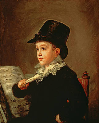 Portrait Of Marianito Goya, Grandson Of The Artist, C.1815 Oil On Canvas Poster by Francisco Jose de Goya y Lucientes
