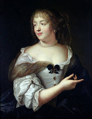 Portrait Of Marie De Rabutin-chantal, Madame De Sevigne 1626-96 Oil On Canvas Poster