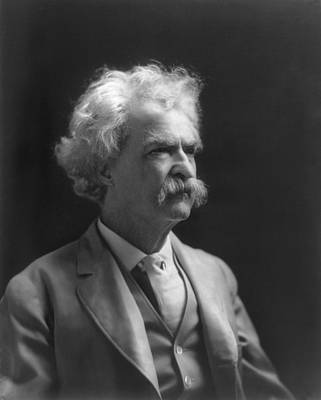 Portrait Of Mark Twain Poster by Underwood Archives