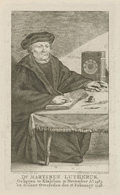 Portrait Of Martin Luther Poster by Artokoloro