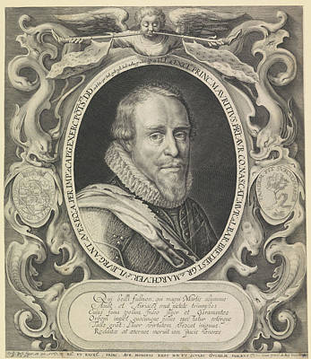Portrait Of Maurice, Prince Of Orange, Willem Van De Passe Poster by Willem Van De Passe And Crispijn Van De Passe (i)