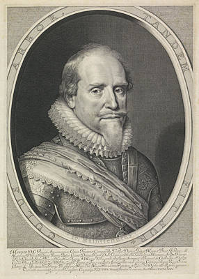 Portrait Of Maurits, Prince Of Orange Poster by Willem Jacobsz. Delff