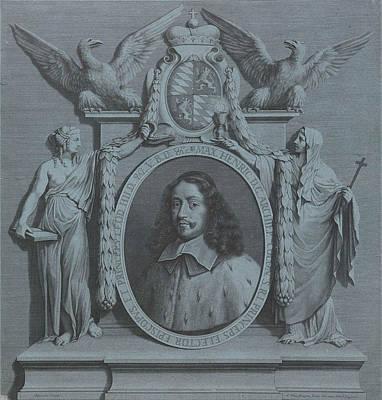 Portrait Of Maximilian Henry Of Bavaria, Archbishop Poster by Pieter Van Schuppen
