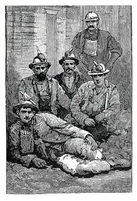 Portrait Of Miners Poster by Science Photo Library