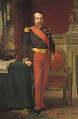 Portrait Of Napoleon IIi 1808-73 1862 Oil On Canvas Poster