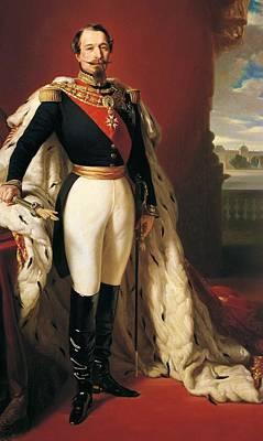 Portrait Of Napoleon IIi Louis Napoleon Bonaparte Poster by Franz Xaver Winterhalter