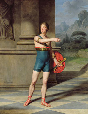 Portrait Of Nicolas Baptiste In The Role Of Horace Oil On Canvas Poster by Martin Drolling