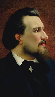 Portrait Of Nikolay Leskov Poster by Anatoly Lelakow