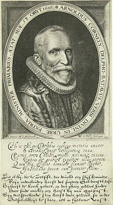 Portrait Of Pastor Arnold Cornelisz. Crusius At The Age Poster by Willem Jacobsz. Delff
