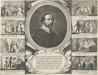 Portrait Of Priest Martinus Van Velden, 1639 Poster by Theodor Matham
