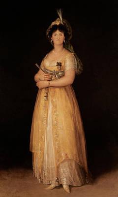 Portrait Of Queen Maria Luisa Poster