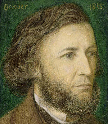 Portrait Of Robert Browning Poster by Dante Charles Gabriel Rossetti