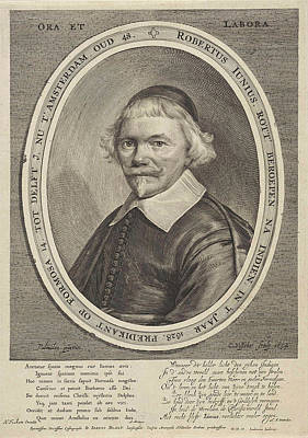 Portrait Of Robert Junius, Print Maker Cornelis Visscher II Poster