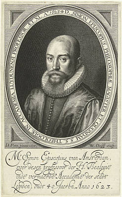 Portrait Of Simon Episcopius At The Age Of 40 Poster by Willem Jacobsz. Delff And Dirck Pietersz. Bontepaert