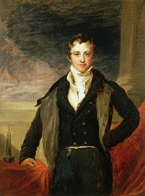 Portrait Of Sir Humphry Davy 1778-1829 Oil Poster by John Linnell