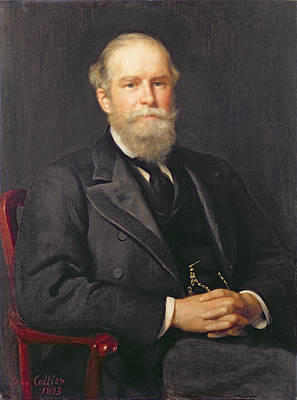 Portrait Of Sir John Lubbock 1834-1913, 1st Baron Avebury Oil On Canvas Poster by John Collier