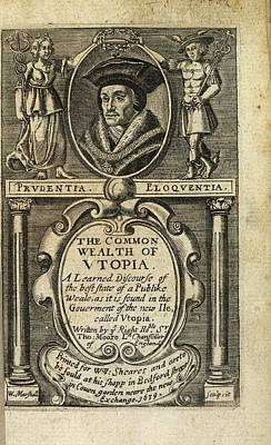 Portrait Of Sir Thomas More Poster by British Library