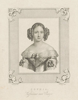 Portrait Of Sophie Of Wrttemberg, Dirk Jurriaan Sluyter Poster