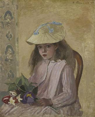 Portrait Of The Artist?s Daughter, 1872 Poster by Camille Pissarro