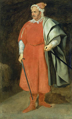 Portrait Of The Buffoon Redbeard, Cristobal De Castaneda, C.1636 Oil On Canvas Poster