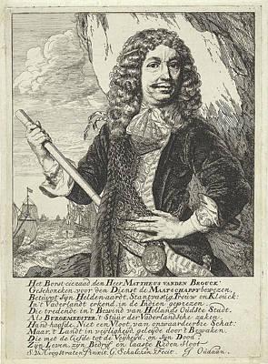 Portrait Of The Dordrecht Mayor And Admiral Mattheus Van Poster by Godfried Schalcken