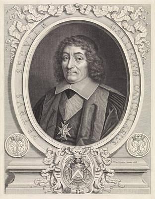 Portrait Of The French Chancellor Pierre Seguier Poster by Pieter Van Schuppen