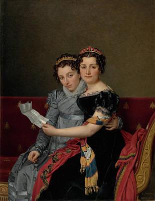 Portrait Of The Sisters Zénaïde And Charlotte Bonaparte Poster