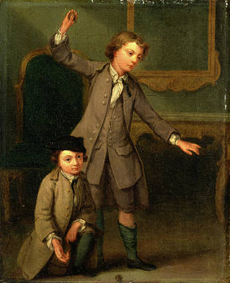 Portrait Of Two Boys, Probably Joseph And John Joseph Poster by Litz Collection