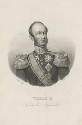 Portrait Of William II, King Of The Netherlands Poster by Johann Wilhelm Kaiser (i)