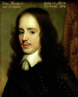 Portrait Of William II, Prince Of Orange Poster by Litz Collection