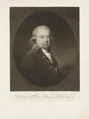 Portrait Of William V, Prince Of Orange-nassau Poster by H.g. Does And A. Milne