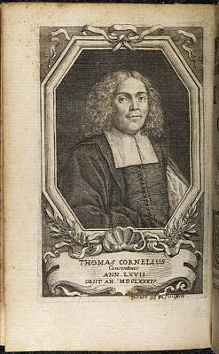 Portrait Plate Of Thomas Cornelius Poster